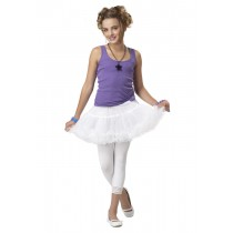RUFFLED PETTISKIRT WHITE
