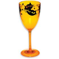 RETRO BLACK CAT WINE GLASS