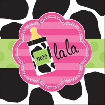 Baby Girl Cow print 3-Ply Lunch Napkins