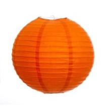 """Orange Hanging Round Paper Lantern 12"""""""