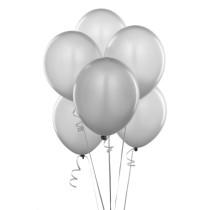 Shimmering Silver Balloons (6)