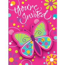 Butterfly Sparkle Postcard w/ Attachment Invitations