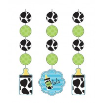 Baby Boy Cow print Hanging Cutouts