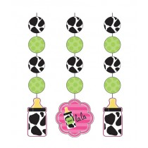 Baby Girl  Cow print Hanging Cutouts