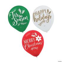 "Christmas Holiday 12"" Latex Balloons"