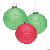Christmas Ornament Hanging Paper Lanterns