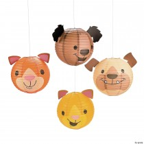 Christmas Tails Paper Lanterns