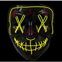 Anonymous Stitched LED Lighted Mask - Yellow