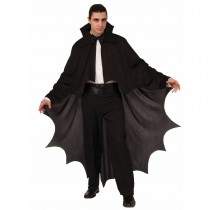 Black Fabric Vampire Cape