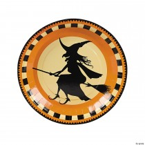 Halloween Silhouette Paper Dinner Plates - 8 Ct