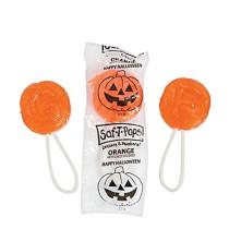Halloween Orange Flavor Saf-T-Pops® Suckers
