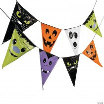 Large Character Plastic Pennant Banner Halloween Decoration