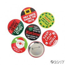 Novelty Holiday Buttons