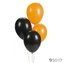 "Orange & Black 11"" Latex Balloon Assortment"