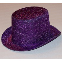 Purple Glitter Topper Hat