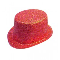 Red Glitter Topper Hat