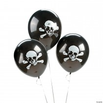 "Skull & Crossbones 11"" Latex Balloons"