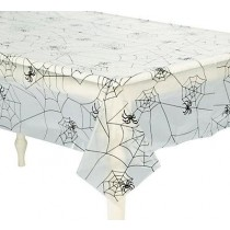 Spider Web Plastic Tablecloth