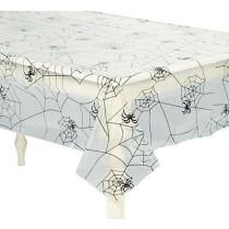 Spider Web Plastic Tablecloth