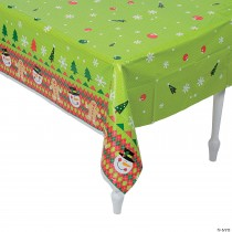 Ugly Sweater Plastic Tablecloth