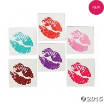 Lip Glitter Tattoos